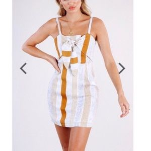 Saints + Secrets Tie front Dress